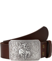 M&F Western - Vintage Leather Belt W/Antiqued Cowboy Buckle