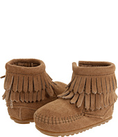 Minnetonka Kids - Double Fringe Side Zip Bootie (Infant/Toddler)