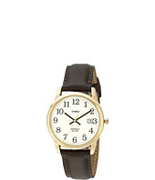 Timex - Classic EZRead Analog Gold Case Brown Leather Strap Watch