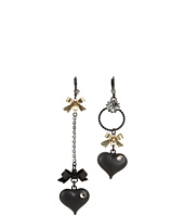 Betsey Johnson - Heart/ Bow Drop Earrings