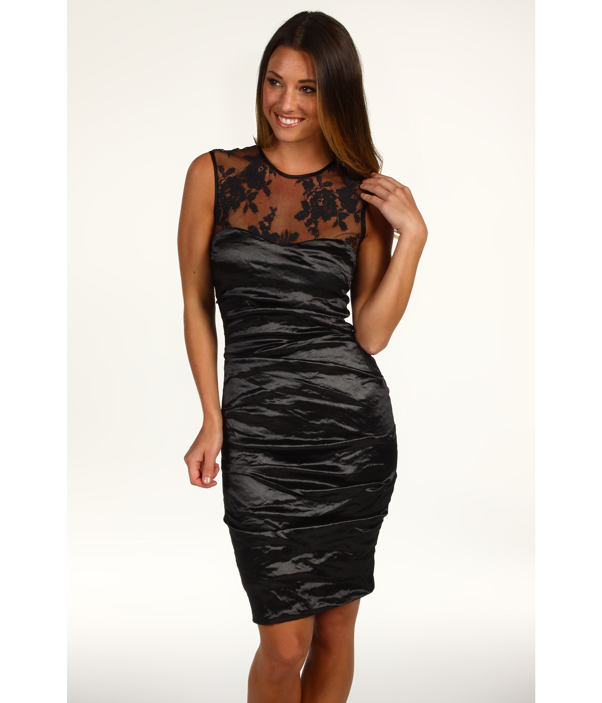 Nicole Miller Techno Metal & Lace Dress $139.99 (  MSRP $465