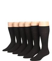 Ecco Socks - Dress Wool Rib Midcalf 6-Pack