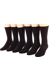 Jefferies Socks - Cotton Casual Crew Six Pack (Adult)