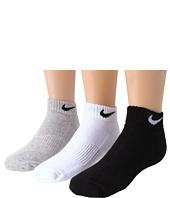 Nike Kids - Cotton Cushion Moisture Management Low Cut 3-Pair Pack (Little Kid/Big Kid)