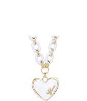 GUESS - Plastic Link Puffy Heart Necklace