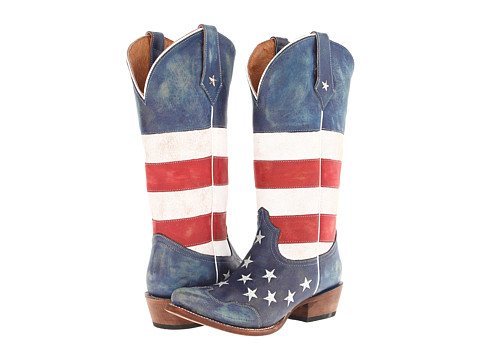 Lady's Roper - American Flag Snip Toe (Red/White/Blue)