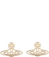 Vivienne Westwood - Thin Lines Flat Orn Stud Earrings