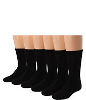 Jefferies Socks - Sport Crew Half Cushion Seamless 6-Pack (Toddler/Little Kid/Big Kid/Adult)