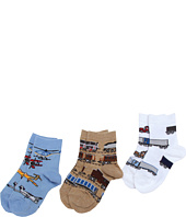 Jefferies Socks - Transportation Triple Treat 3-Pack (Infant/Toddler/Little Kids)