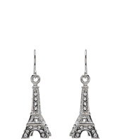 Betsey Johnson - Crystal Rhodium Eiffel Tower Drop Earrings