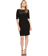 Adrianna Papell - Partial Tuck Long Sleeve Dress