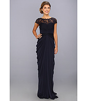 Adrianna Papell - Lace Bodice On Draped Skirt