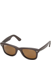 Ray-Ban - RB2140 Leather-Wrapped Wayfarer Polarized 50mm