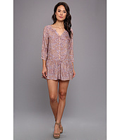 Tbags Los Angeles - Paisley 3/4 Sleeve Drop Waist Dress