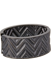 GUESS - Chevron Stripe Wide Stretch Bracelet