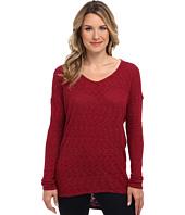 Allen Allen - L/S Dolman Yoke V Sweater