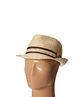 Tommy Bahama - Buri Straw Fedora with Contrast Trim