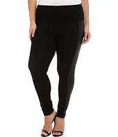 Lysse - Plus Size Ponte Legging w/ Vegan Side Panel 15040