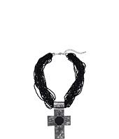 M&F Western - Multi Beaded Strand Cross Necklace/Earring Set