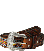 M&F Western - Embossed Tab Diamond Beaded Inlay Belt
