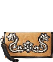 M&F Western - Floral Stitch Wristlet Wallet