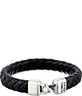 King Baby Studio - Small Braided Leather Bracelet w/ a Hook Clasp