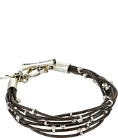 Lucky Brand - Silver Leather Bracelet