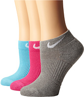 Nike - Cotton Cushioned Low Cut with Moisture Management 3-Pair Pack