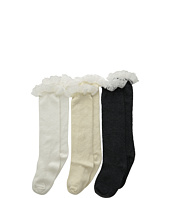 Jefferies Socks - Lace Boot Knee High 3 Pack (Toddler/Youth)