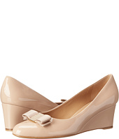 Salvatore Ferragamo - Patent Leather Closed Toe Wedge