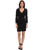 ABS Allen Schwartz - Crepe Drape Front Faux Wrap Dress