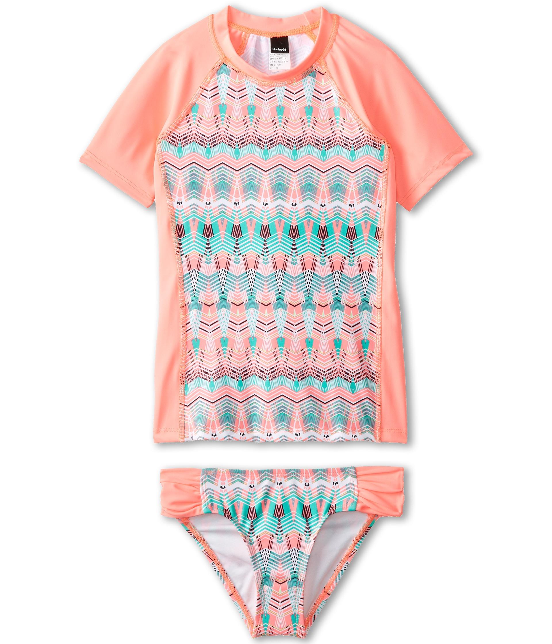 Hurley Kids Phoenix Surf Shirt Set Big Kids Pink, Pink