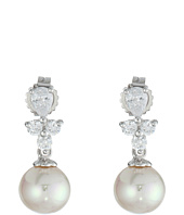 Majorica - Pearl Drop w/ CZ Pear Shape Earrings
