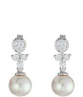 Majorica - Pearl Drop w/ CZ Pear Shape Earrings