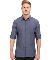 John Varvatos Star U.S.A. - Roll Up Sleeve Shirt w/ Button Down Collar Single Pocket