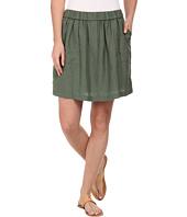 Lacoste - Elastic Waistband Linen A-Line Skirt