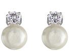 Pearl w/ Cubic Zirconia Clip Earrings