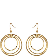 LAUREN Ralph Lauren - Small Round Bevel Ring Gypsy Hoop Earrings