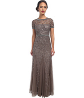 Adrianna Papell - Cap Sleeve Fully Beaded Gown