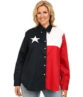 Roper - Plus Size Texas Pieced Flag Shirt