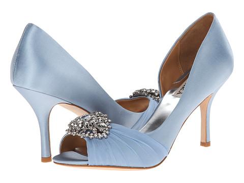 Badgley Mischka Pearson Light Blue Satin Heels Cute Women S Heels