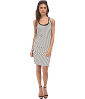 Three Dots - Stripe Shirred Tank Dress