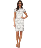 Adrianna Papell - Embellished Ornate Lace Sheath