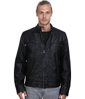 Calvin Klein - Faux Leather Moto Jacket
