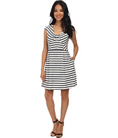 Jessica Simpson - Cap Sleeve Stripe Fit & Flare Dress JS5M7039