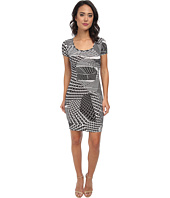 Calvin Klein - Short Sleeve Printed Jersey Dress CD5AX7A3