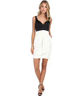 JILL JILL STUART - Two-Tone Sweetheart Neck Duchess Satin Dress