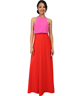 JILL JILL STUART - Two-Tone Pop Over 2-Ply Crepe Gown