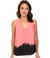 DKNYC - Vertical Pleat Front Blouse