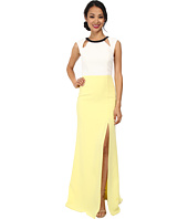 ABS Allen Schwartz - Color Block Gown w/ Cutouts